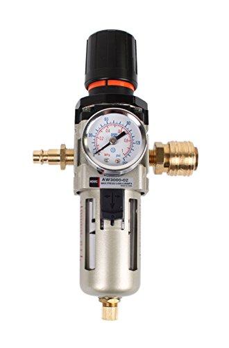 """WELDINGER Druckluftregler 3/8\"""" inklusive Filter Wasserabscheider Schnellkupplungen (Wartungseinheit)"""