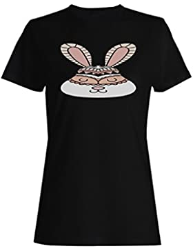 Nueva Novedad De Conejo Étnico camiseta de las mujeres m105f