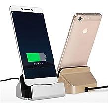Theoutlettablet® Dock Carga / Sincronización para Smartphone Bq Aquaris E5 / M5 / X5 - Xiaomi Redmi 3 Pro / Redmi 4X Conexión micro-usb