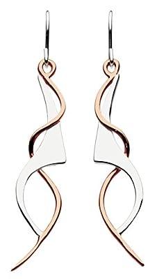 Dew Women's Art Nouveau Drop Sterling Silver Earrings