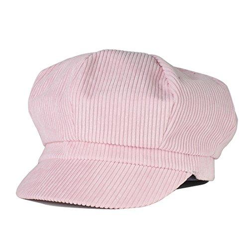 Newsboy Barett Cap Schirmmütze Kappe Hut (Rosa) (Rosa Newsboy Hut)
