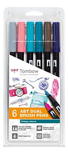 Tombow PABT-6P-5 Dual brush, ,, 6 Pezzi