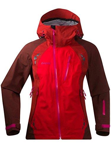Bergans Isogaisa Damen Jacke bright red/dark maroon/ho