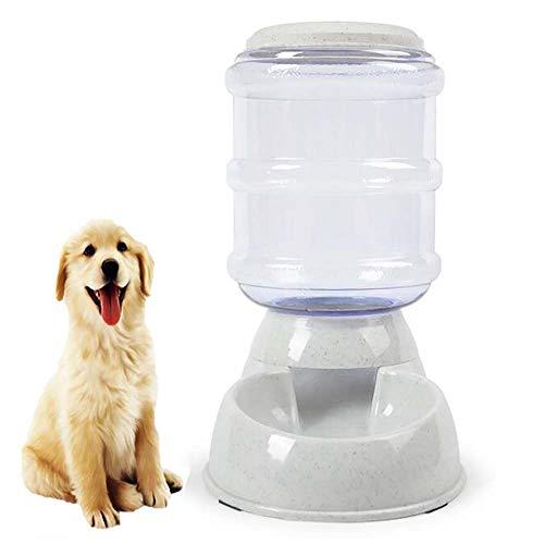FXQIN Automatischer Futterautomat Hund, Hundefutter für Katzen, automatischer Futterautomat, 3,8 l, leicht zu zerlegen, grau