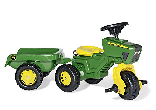 rolly-toys-john-deere-trio-trac-with-electronic-steering-wheel-and-trailer