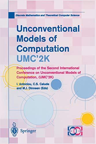 Unconventional Models of Computation, Umc'2K par I. Antoniou