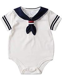 4814710a8d Zhouba, pagliaccetto estivo per neonati e bambine, a maniche corte, in  cotone,