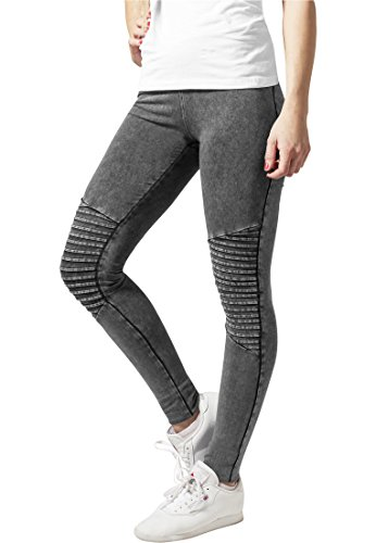Ladies Denim Jersey Leggings darkgrey XS