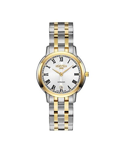 Roamer Women's Quartz Watch with Silver Dial Analogue Display and Two Tone Stainless Steel Bracelet 515811 47 22 50