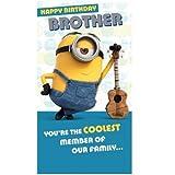 Geburtstagskarte Minions für den Bruder