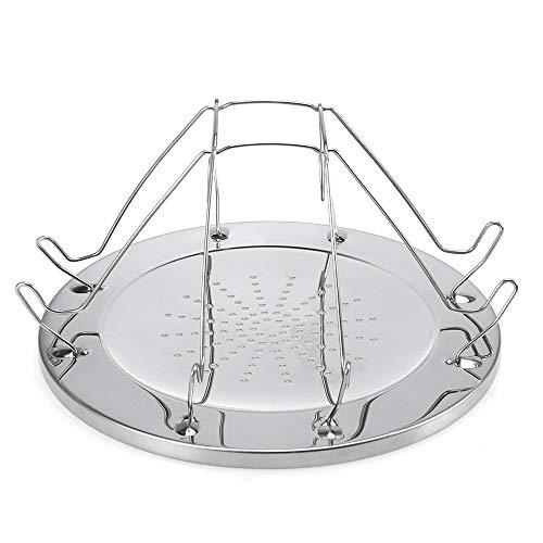 Explopur Zusammenklappbarer Campingkocher Toaster, Halter 4 Scheibenbrot - Frühstück für Grillparty - Edelstahl Campingkocher Toasterhalter