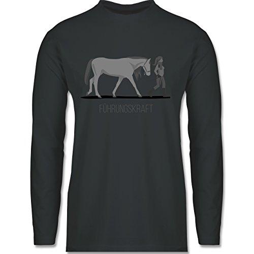 Reitsport - Führungskraft - Longsleeve / langärmeliges T-Shirt für Herren Anthrazit