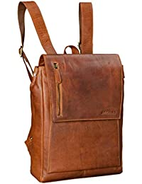 cd3523f8df149 STILORD  Simon  Daypack Rucksack Leder Herren Damen Vintage  Rucksackhandtasche groß Lederrucksack für Business Uni