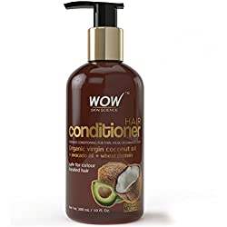 WOW Hair Conditioner Infused with Organic Virgin Coconut Oil - No Parabens and Sulphates - 300ml