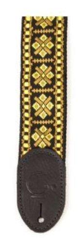 Gretsch 922-0060-103 Guitar Strap, Diamante, Fin Negro