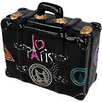 Preisvergleich für Sparbüchse Spardose - Reisekoffer schwarz - aus Keramik mit Gummistopfen