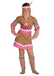 Ciao -Disfraz de Indiecita Rayo de Luna para niñas - Incluye maquillaje - Modelo n. 10799 4-6 anni Marrone/Rosa