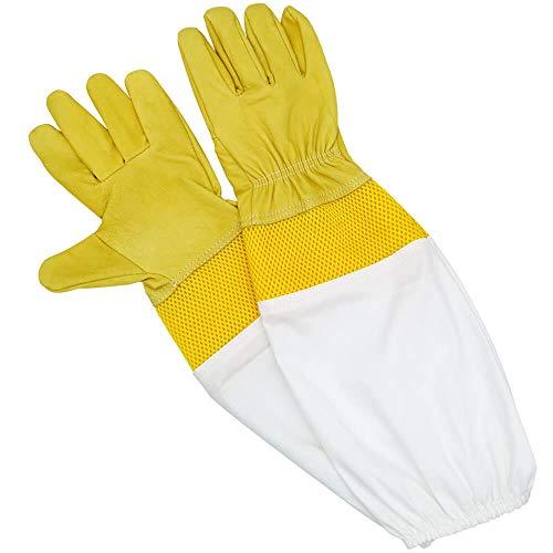 Kurze Handschuhe Biene - KINGLAKE Schutzhandschuhe Bienenzuch Ziegenleder EIN Paar