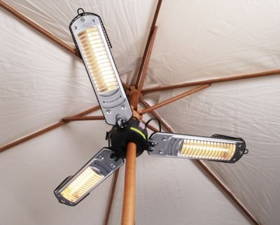Superbe ... Firefly 2kW Electric Quartz Bulb Parasol Patio Heater ...