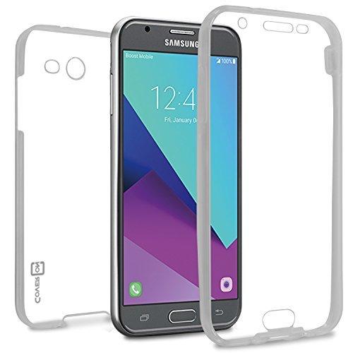 Galaxy J3Emerge Fall, Galaxy J3Prime Fall, Galaxy Amp Prime 2Fall, Galaxy J3Fall 2017, coveron [wrapguard Series] Full Cover für Samsung Galaxy J3Prime/J3Emerge J3/2017/AMP Prime 2Klar