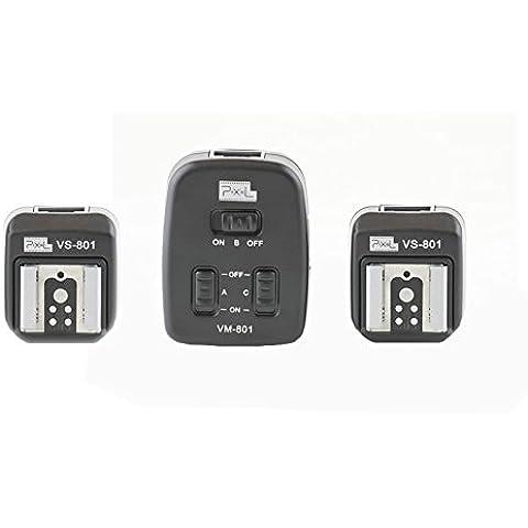 Duo Cavo per flash TTL (2x 2m) con 2empfaengern (espandibile a 3empfaenger)–per Canon Speedlite 600EX-RT, 580EX II, 580EX, 550EX, 540EZ, 430EX II, 430EX, 420EX, 380EX, 320EX, 270EX II, 270EX, 220EX–Aehnlich OC-E3