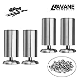 8 inch / 20cm Furniture Legs, La Vane Set of 4 Stainless Steel Cabinet Feet for Cupboard Sofa Kitchen Couch Bookcase
