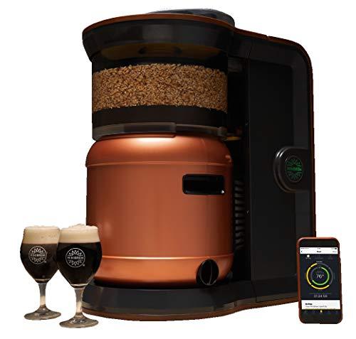 MiniBrew Craft Bierbrauautomat-Set für Hobbybrauer und Bierliebhaber-inklusive BasisStation, SmartKeg-Fass, Ständer, Zapfhahn und Co2-Verbindungsgliedern für eine einfache & selbstreinigende Maschine