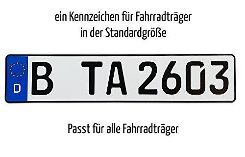 Preisvergleich Produktbild TA TradeArea 1 Fahrradträger Kennzeichen | Din-Zertifiziert & Reflektierend Inklusive Einer Parkscheibe