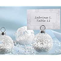 Snow Flurry Flocked Glass Ornament Place Card/Photo Holder (Set of 6) by FashionCraft preisvergleich bei billige-tabletten.eu