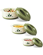 Milton Orchid 3 Piece Junior Insulated Casserole Set