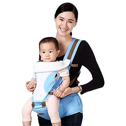 417JnUaxo2L. SS416  - GBlife Mochila Portabebé 5 en 1 de Diseño Ergonómico Ajustable Portadores Marsupios para Recién Nacidos/Bebé