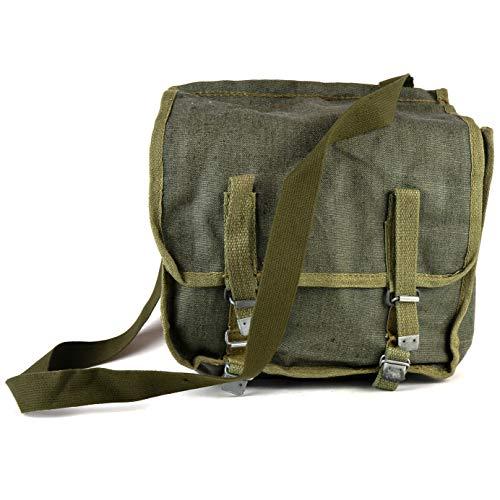Original polnische Armee Haversack Canvas Schultertasche Brottasche Classic Military Messenger Daypack OD Olive -
