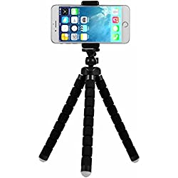 Rhodesy Treppiede portatile Octopus Style con Supporto per iPhone, Qualsiasi Smartphone, Videocamera con Clip Universale