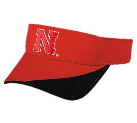 2012 NCAA Adult NEBRASKA CORNHUSKERS Red/Black VISOR Adjustable Moisture Resistant New by Authentic Sports Shop