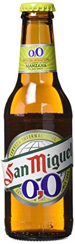 San Miguel 0,0% Manzana Cerveza - Paquete de 6 x 250 ml - Total: 1500 ml