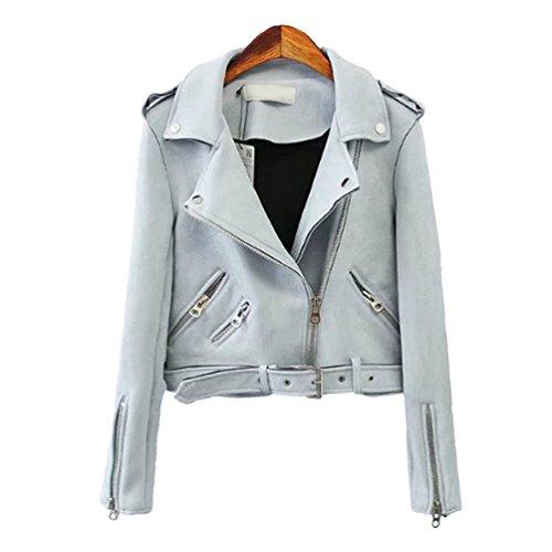 Baymate Damen Classics Jacke Elegant Wildleder Suede Kurz Jacket Outwear