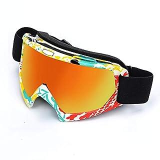 SonMo Motorrad Brille Fahrbrille Sportbrille Arbeitsbrille Schneebrille Snowboardbrille Radbrille Skibrille TPU+PC Stil 3 Schneebrille Brillenträger Blendschutz mit UV Schutz Winddicht