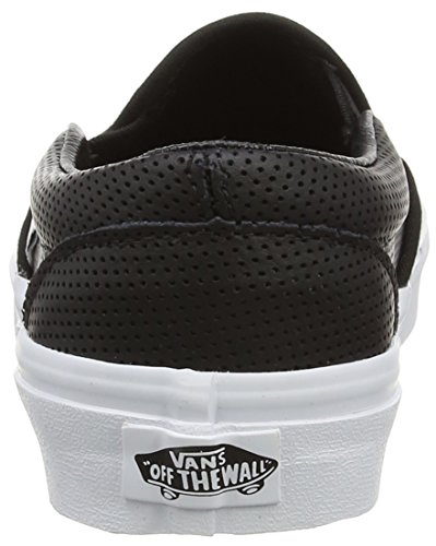 Vans Unisex-Erwachsene Classic Slip-On Sneaker Schwarz (perf Leather/black)