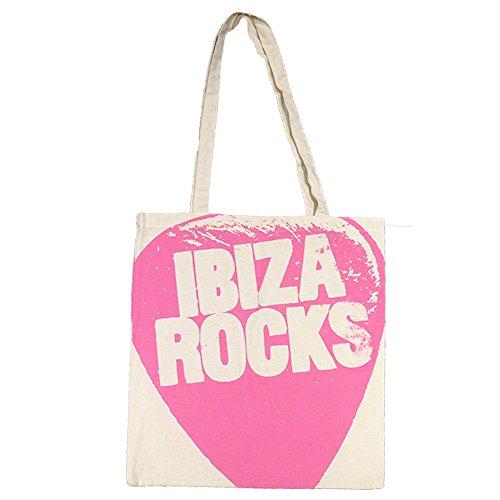 Ibiza Rocks: Sac Cabas avec Logo Oversize Rose
