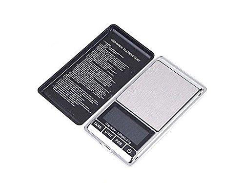 Preisvergleich Produktbild Digital Pocket Maßstab tragbar, leichtes Professionelle Multifunktionale Mini Waage mit LCD-Display mit Hintergrundbeleuchtung von trimmen Shop, schwarz