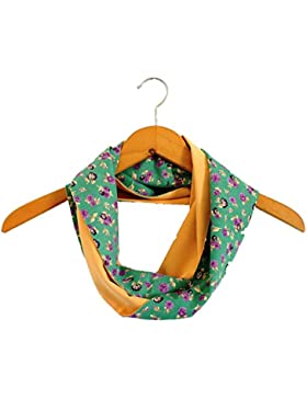 BRANDELIA Bufanda Fular Mujer Pañuelo Braga Cuello Reversible Estampado de Flores, Accesorio Para Todo El Año....