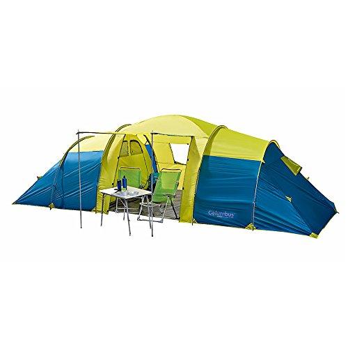 Columbus Ness Tente de camping pour 8 personnes Jaune/Bleu Unique