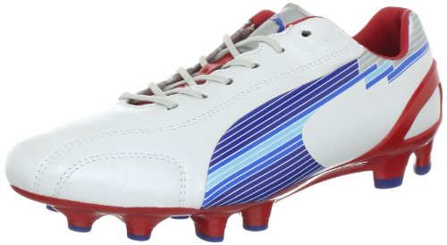 Puma evoSPEED 1 K FG, Scarpe da calcio uomo Verde / Blu Bianco (Weiss (white-limoges-ribbon red 01))