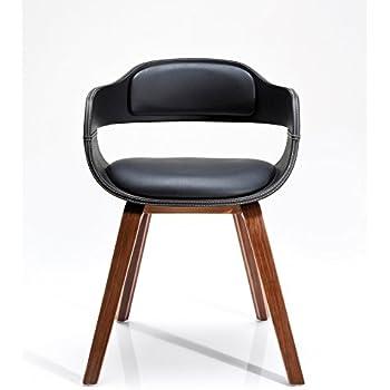 Stuhl mit Armlehne Costa Walnut, moderner, bequemer Esszimmerstuhl ...