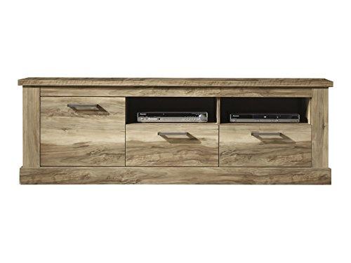 Wohnzimmer Lowboard Fernsehschrank Fernsehtisch Montreal, 186 X 61 X 52 Cm  In Nussbaum Satin Dekor