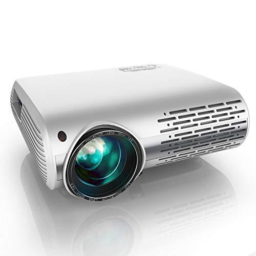 YABER Proiettore 5200 Lumen Videoproiettore Nativa 1080P 4D Keystone Correction ± 50° Led Full Hd Supporto 4K Videoproiettore Domestico/Professionale Per Iphone, Smartphone, Pc, Tvbox, Laptop, Ps4