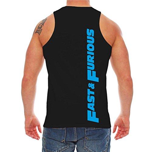 Männer und Herren Trägershirt We rule the Streets (mit Rückendruck) Größe M - 8XL Schwarz
