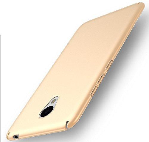 Apanphy Meizu M5 Note Hülle , Hohe Qualität Ultra Slim Harte Seidig Und Shell Volle Schutz Hinten Haut Fühlen Schutzhülle für Meizu M5 Note, Gold