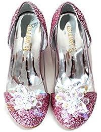 69e6bcbae55ca4 ELSA   ANNA® UK Girls Princess Snow Queen Wedged Party Shoes Sandals  PNK16-SH