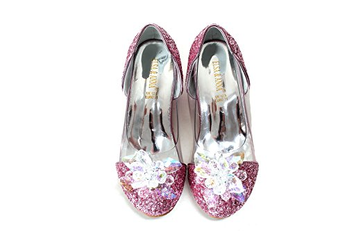 en Neueste Design Gute Qualität Schuhe Prinzessin Schnee Königin Gelee Partei Schuhe Sandalen PNK16-SH (EURO 25 - Innenlänge: 16.6cm, PNK16-SH) (Frozen Elsa Schnee Königin Kostüm)
